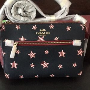 Coach Americans Stars Set crossbody and Wristlet
